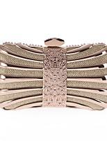 preiswerte -Damen Taschen Polyester / Aleación Abendtasche Knöpfe / Kristall Verzierung Gold / Schwarz / Rote