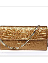 cheap -Women's Bags Patent Leather Clutch Embossed Gold