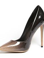 abordables -Femme Chaussures Faux Cuir Printemps été Escarpin Basique Chaussures à Talons Talon Aiguille Bout pointu Rouge / Amande / Soirée & Evénement