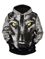 cheap -Men's Active / Exaggerated Hoodie - Geometric / 3D, Print