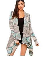 cheap -Women's Basic Cardigan - Geometric, Print