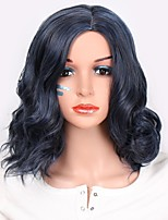 cheap -Synthetic Extentions Wavy Layered Haircut Synthetic Hair Women Blue Wig Women's Short Capless