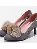 Недорогие -Жен. Обувь Полиуретан Весна / Осень Удобная обувь / Туфли лодочки Обувь на каблуках На шпильке Черный / Серый / Темно-коричневый