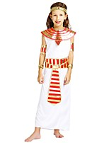 cheap -Pirate Costume Girls' Halloween / Carnival / Children's Day Festival / Holiday Halloween Costumes White Solid Colored / Halloween Halloween