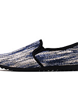 cheap -Men's Shoes Canvas Fall Moccasin / Driving Shoes Loafers & Slip-Ons Black / Blue