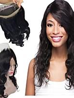 Недорогие -Перуанские волосы 360 Лобовой Волнистый Бесплатный Часть Швейцарское кружево Натуральные волосы Жен. Лучшее качество / 100% девственница / Кружевное закрытие Рождество / Новогодние подарки / Свадьба