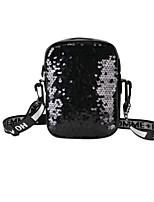 cheap -Women's Bags PU(Polyurethane) Shoulder Bag Glitter / Zipper Black / Blushing Pink / Silver