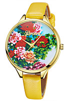 abordables -Geneva Femme Montre Bracelet Chinois Design nouveau / Montre Décontractée / Cool Cuir Bande Décontracté / Mode Marron / Violet / Jaune