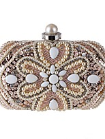 cheap -Women's Bags Polyester Evening Bag Sequin / Pearls Champagne / White