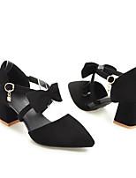 preiswerte -Damen Schuhe PU Frühling / Herbst Komfort / Pumps High Heels Blockabsatz Schwarz / Beige / Rot