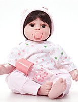 cheap -FeelWind Reborn Doll Baby Girl 20 inch lifelike, Tipped and Sealed Nails, Artificial Implantation Brown Eyes Kid's Girls' Gift