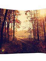 Недорогие -Пейзаж Декор стены 100% полиэстер Винтаж Предметы искусства, Стена Гобелены Украшение