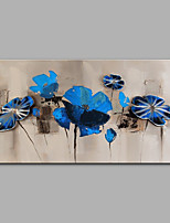preiswerte -Hang-Ölgemälde Handgemalte - Abstrakt / Blumenmuster / Botanisch Modern Segeltuch