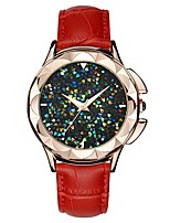 cheap -SANDA Women's Dress Watch / Wrist Watch Japanese Water Resistant / Water Proof / New Design / Cool Genuine Leather Band Casual / Fashion Black / White / Red