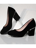 abordables -Femme Chaussures Polyuréthane Printemps / Automne Confort / Escarpin Basique Chaussures à Talons Talon Bottier Noir / Rouge