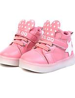 Недорогие -Девочки Обувь Полиуретан Весна лето Удобная обувь Кеды Для прогулок LED для Для подростков Белый / Черный / Розовый
