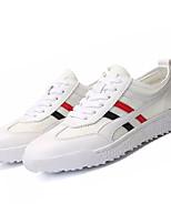 Недорогие -Муж. Полиуретан Лето Удобная обувь Кеды Белый / Розовый и белый