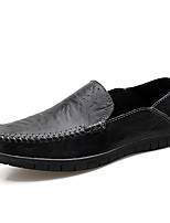cheap -Men's Nappa Leather Fall & Winter Moccasin Loafers & Slip-Ons Black / Light Brown / Dark Green