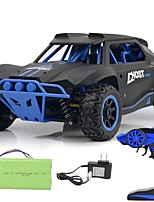 abordables -Coche de radiocontrol  2.4G Off Road Car / Carro de Carreras / Drift Car 1:18 Brush Eléctrico 25 km/h KM / H