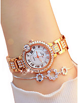 cheap -Women's Wrist Watch Chronograph / Casual Watch / Imitation Diamond Alloy Band Luxury / Elegant Silver / Gold / Rose Gold