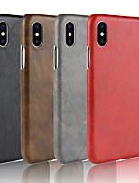 cheap -Case For Apple iPhone X / iPhone 8 Frosted Back Cover Solid Colored Hard PU Leather for iPhone X / iPhone 8 Plus / iPhone 8