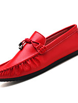 cheap -Men's Moccasin Nappa Leather Fall Loafers & Slip-Ons White / Black / Red