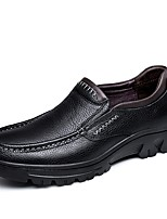 cheap -Men's Nappa Leather Spring Comfort Loafers & Slip-Ons Black / Brown