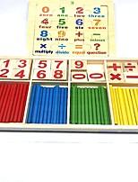 Недорогие -Игрушка для обучения чтению Числа Для школы Дерево / Бамбук Детские Подарок 2 pcs