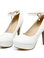 Недорогие -Жен. Обувь Полиуретан Весна / Осень Удобная обувь / Туфли лодочки Обувь на каблуках На шпильке Белый / Желтый / Розовый