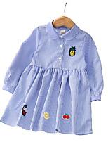 economico -Bambino (1-4 anni) Da ragazza A strisce Manica lunga Vestito