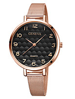 cheap -Geneva Women's Wrist Watch Quartz New Design Casual Watch Cool Alloy Band Analog Casual Fashion Black / Rose Gold - Black Black / Gold Black / Rose Gold One Year Battery Life