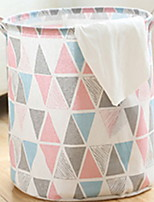 cheap -Cotton / Polyster Round Geometric Pattern Home Organization, 1pc Laundry Bag & Basket