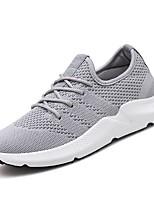 cheap -Men's Light Soles Knit / Mesh Summer Comfort Sneakers Gray / Black / Gold / Black / White