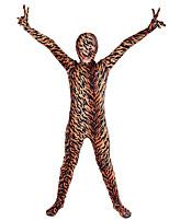abordables -Costumes zentai à motifs / Costume de Cosplay Costume Zentai Costumes de Cosplay Marron Motif Fourrure d'Animaux Boas et Plumes / Elastique Unisexe Halloween / Carnaval / Le Jour des enfants