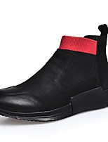 cheap -Men's Comfort Shoes Nappa Leather Fall & Winter Sneakers Black