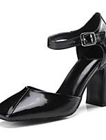 Недорогие -Жен. Обувь Наппа Leather Весна / Осень Удобная обувь / Туфли лодочки Обувь на каблуках На толстом каблуке Черный / Желтый