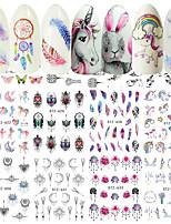 Недорогие -40 pcs Стикеры маникюр Маникюр педикюр Творчество Наклейки для ногтей На каждый день / фестиваль