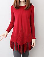 economico -Per donna Moda città / sofisticato Pullover Fantasia geometrica