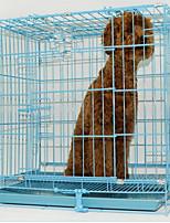 Недорогие -Складной Одежда для собак Клетки Однотонный Синий Собаки / Коты