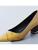 Недорогие -Жен. Обувь Наппа Leather Весна / Осень Удобная обувь / Туфли лодочки Обувь на каблуках На толстом каблуке Желтый / Красный / Зеленый