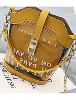 cheap -Women's Bags PVC(PolyVinyl Chloride) Shoulder Bag Pattern / Print White / Blushing Pink / Yellow