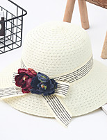cheap -Women's Basic / Holiday Straw Hat - Color Block
