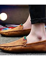 Недорогие -Муж. Полиуретан Весна & осень / Осень Удобная обувь Мокасины и Свитер Серый / Коричневый / Хаки
