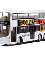 Недорогие -Игрушечные машинки Автобус Двухэтажный автобус Вид на город / утонченный Металл Все Детские / Для подростков Подарок 1 pcs