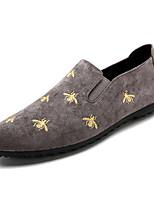 abordables -Homme Chaussures Satin Eté Moccasin Mocassins et Chaussons+D6148 Noir / Gris / Vert
