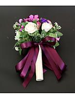 baratos -Bouquets de Noiva Buquês / Decorações Casamento / Festa de Casamento Renda / Botão de flor 11-20 cm