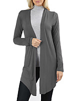 cheap -Women's Basic / Street chic Cardigan - Solid Colored