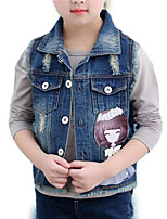 cheap -Kids Girls' Solid Colored Sleeveless Jacket & Coat