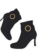 abordables -Mujer Zapatos Ante Verano Confort Botas Tacón Stiletto Dedo Puntiagudo Botines / Hasta el Tobillo Rojo