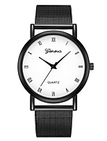 cheap -Geneva Women's Wrist Watch Quartz New Design Casual Watch Cool Alloy Band Analog Casual Fashion Black - Black / Gold Black / White One Year Battery Life